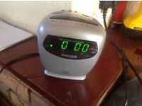 Philips radio and alarm daul alarm used £4
