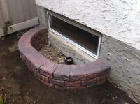 Landscaping- new stack stone window well