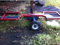 Spec lift tow dolly trailer