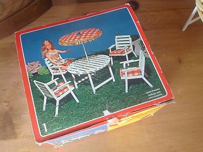 SISO Vintage Puppenmöbel Set Gartenmöbel Set Nr.1 in schönem Zustand neu und OVP