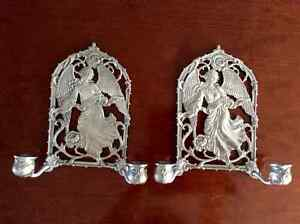 Seagull Pewter Angel Wall Sconces