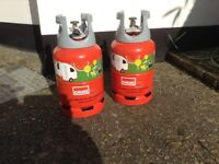 Two FULL Calor light 6kg gas cylinders