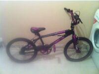Girls BMX stunt bike