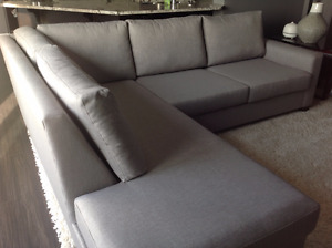 New! Custom Deep Seated Sectional with Chaise