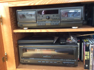 Dual cassette player and 60+1 CD changer