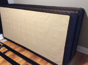 King size frame and box spring for sale
