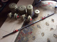 Weight bench and weight set for sale