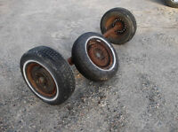 6ft axel with tires and rims & spare