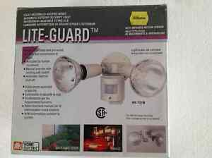 Outdoor Motion-Sensor Security Light & Bulbs