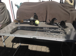 TRAILER HITCH,  BALL, FRAME CLAMPS,  LOAD LEVELER BARS