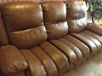 Leather sofa and chair.  Rocker recliner.