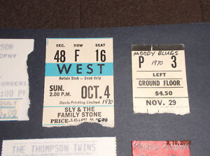 ROCK CONCERT TICKET STUBS Kitchener / Waterloo Kitchener Area image 1