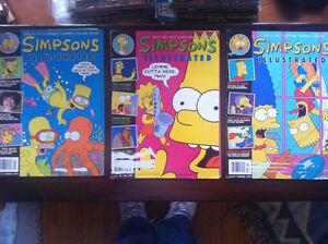 Lot of 3 Simpsons Illustrated Books