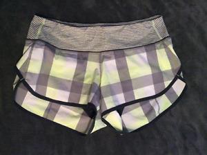 Lululemon Speed Shorts Size 6 EUC