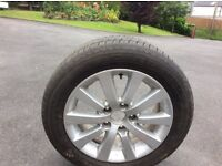 Honda Civic spare alloy wheel and tyre
