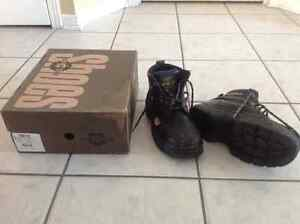 Steel worker steel toe men boots