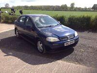 2000 Vauxhall Astra 1.6 cd motd September 16 cd alloys