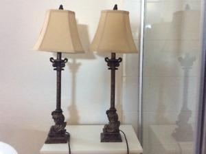 Lampes de table impeccables!