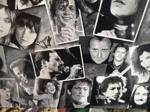 "TONY MEERS TRIBUTE ROCK LEGENDS. LAMINATED FRAME 24""X36"" Gatineau Ottawa / Gatineau Area image 9"