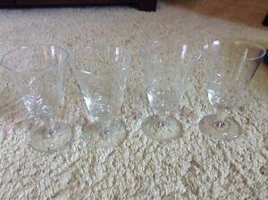 Glass Goblets - Set of 4 Kitchener / Waterloo Kitchener Area image 1