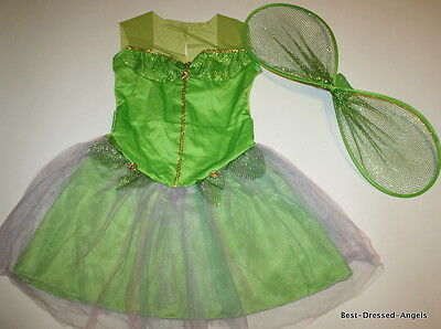 Big Fairy Wings (RUBIES Tinkerbell Fairy Costume Dress & Wings Big Girls Size 10-12 12-14)