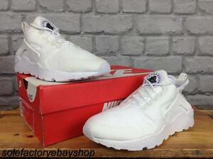 NIKE-LADIES-UK-4-5-6-7-8-WHITE-AIR-HUARACHE-RUN-ULTRA-TRAINERS-RRP-100-RARE