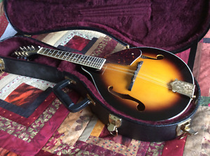 A-style mandolin and hard case