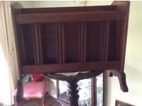 Mahogany magazine rack/coffee table