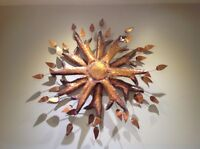 Mid Century C. Jere Style Copper Wall Sculpture