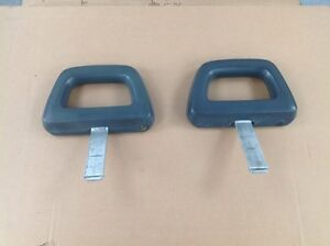 2 pairs of grey mustang halo head rests