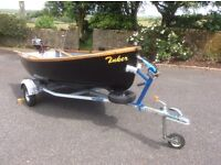 10ft Dinghy, Snipe Trailer with 3.3hp Mariner Engine
