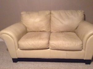 FREE Leather look Loveseat and Chair