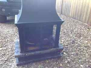 Cast iron outdoor patio fire place