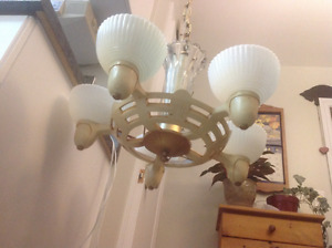 Antique, Art Deco hanging light fixture