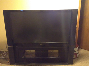 Toshiba DLP 62 inch TV and Tower Entertainment Center