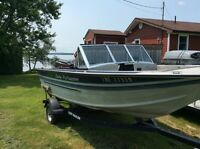 17ft sylvan pro fisher with 75 hp mariner