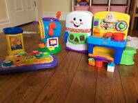Fisher Price lot of toy kitchen, mail box
