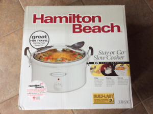 Brand New Hamilton Beach Stay or Go slow cooker