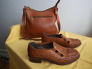 Sac à main/souliers cuir qualité/Quality leather handbag/shoes