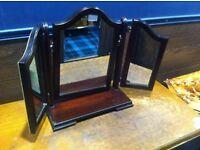 Stag table top vanity mirror