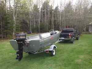 Aluminum boat , motor , and trailer for sale