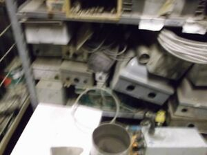 electrical boxes, fuse, shut off etc.all sizes and volts, shape