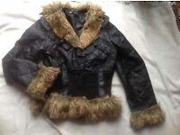 Tesga ladies jacket with fur size: M/L used £2