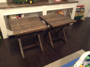 Criss Cross Style End Tables