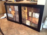 Two large matching frames/wall art