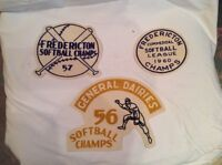Fredericton softball championship patches, 1950s
