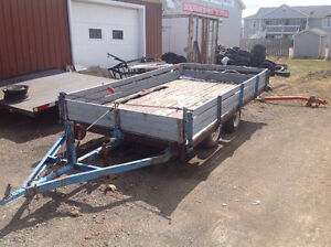 MUST SELL !! tandem utility trailer