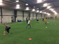 Raining n' cold out there? Not here play soccer, b-ball inside!