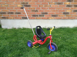 Tricycle with Push Handle