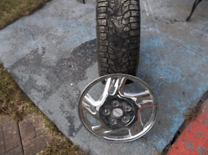 tires. winter rims and hubcaps for a 2001 vw bettle